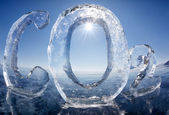 Icy chemical formula of carbon dioxide CO2 — Stok fotoğraf