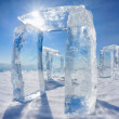 Icehange - stonehenge made from ice — Stock Photo