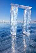 Gates made from ice — Stock Photo