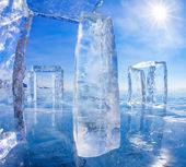 Icehange - stonehenge vyrobené z ledu — Stock fotografie