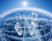 Icehange - stonehenge made from ice — Stock Photo