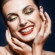 Shining face makeup — Stock Photo