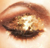 Lysande ögonmakeup — Stockfoto