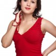 Girl in red top — Stock Photo #3750593
