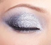 Shining woman eyes makeup — Stock Photo