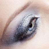 Shining woman eyes makeup — Stock Photo