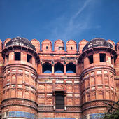 Entrance towers of Red Agra Fort in India — Stock Photo