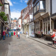 Stonegate street of York, a city in North Yorkshire, England — Stock Photo