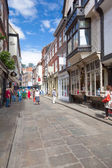 Stonegate street of York, a city in North Yorkshire, England — Foto de Stock