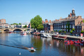 River Outhe in York, a city in England — Stock Photo