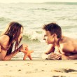Couple at the beach — Stock Photo #42309815