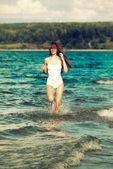 Running girl — Stock Photo