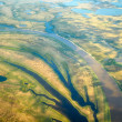 Aerial view on North Yakutia landscapes — Stock Photo #42850835
