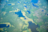 Aerial view on North Yakutia landscapes — Stock Photo