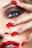 Acrylic nails manicure — Stock Photo