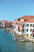 View on Grand Canal from Ponte degli Scalzi in Venice, Italy — Stock Photo