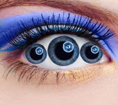 Abnormal eye — Stock Photo