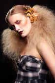 Halloween Beauty woman makeup — Stock Photo