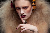 Halloween Beauty woman makeup — Zdjęcie stockowe