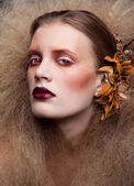 Halloween Beauty woman makeup — Stock Photo