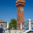 Clock tower in Murano, Italy — Foto de Stock   #51713121