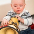 Boy with megaphone — Stock Photo #14768631