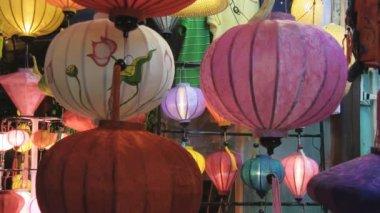 Building an asian lantern — Stock Video