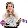 Woman with headphone — Stock Photo #23997203