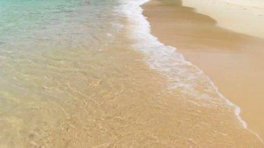 Wave on sand — Vídeo stock