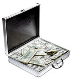 Case with dollars — Stock Photo