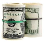 Dollars on white — Stock Photo