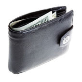 Wallet with dollars — Stock Photo