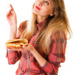 Girl with fast food — Stock Photo #29588611