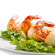 Shrimp with greens — Stock Photo #3173395