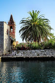 Montenegro in the ancient town of Perast — Stock Photo