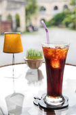 Fresh cola drink on the table — Stock Photo