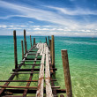 Simple traditional wooden pier — Stock Photo