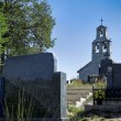 Church and cemetery — Stock Photo