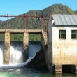 Stock Video: Old dam of hydroelectric power station