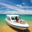 Foto Stock: Tourist Boat near Shore
