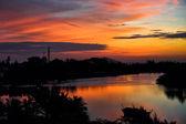 Tropical sunset — Stock Photo