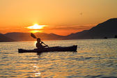 Kayaking in Montenegro — Stock Photo