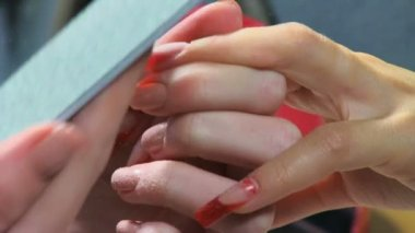 Manicure making — Stock Video