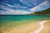Beatiful sand of beach sea — Stock Photo