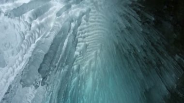 Icicle in the cave close up — Vídeo stock