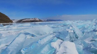 Winter landscape. — Stok video