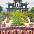 Incense Sticks Burning Outside of Temple — Stock Photo