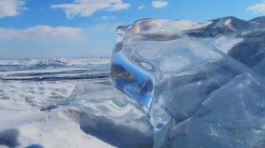 Winter landscape. — Stock Video