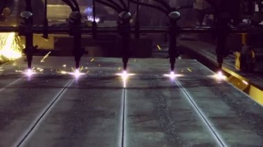 Metal cutting with gas welding — Stock Video