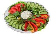 Sliced vegetables  — Stock Photo